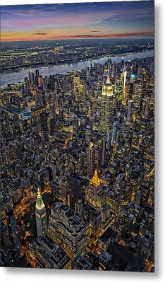 Empire State Aerial View Metal Print by Susan Candelario