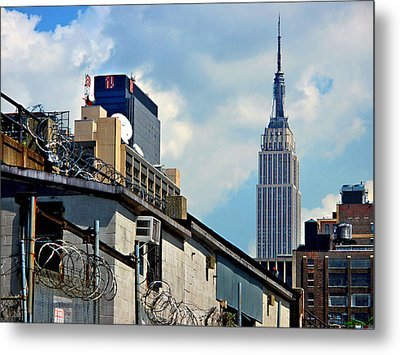 Empire State Building - A Different View Metal Print by JoAnn Lense
