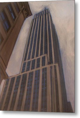 Empire State Building 1 Metal Print by Anita Burgermeister