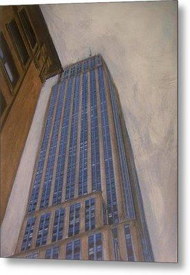 Empire State Building 2 Metal Print by Anita Burgermeister