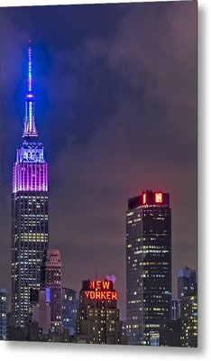 Empire State Building Esb At Night Metal Print