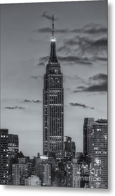 Empire State Building Morning Twilight Iv Metal Print