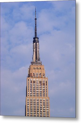 Empire State Building Observatory Metal Print by Margie Avellino