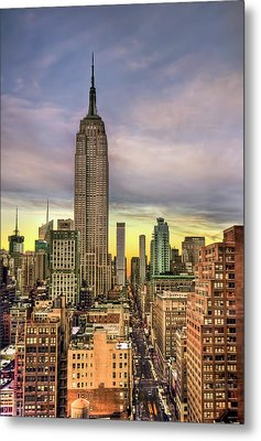 Empire State Of Mind Metal Print by Evelina Kremsdorf