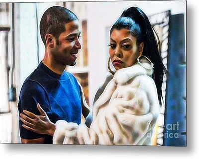 Empires Jussie Smollett As Jamal Lyon And Cookie Metal Print by Marvin Blaine