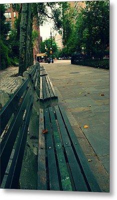 Empty Benches Metal Print by Karol Livote