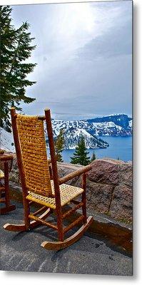Empty Chair Metal Print by Dorota Nowak
