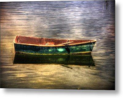 Empty Docked Rowboat Metal Print