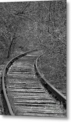 Empty Tracks Metal Print