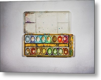 Empty Watercolor Paint Trays Metal Print by Scott Norris