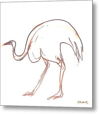 Emu Metal Print by Deborah Dendler