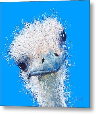 Emu Painting Metal Print by Jan Matson