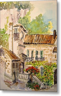 En Plein Air At Moulin De La Roque France Metal Print