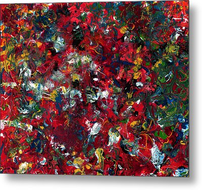 Enamel 1 Metal Print by James W Johnson