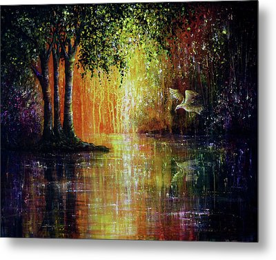 Enchanted Forest Metal Print by Ann Marie Bone