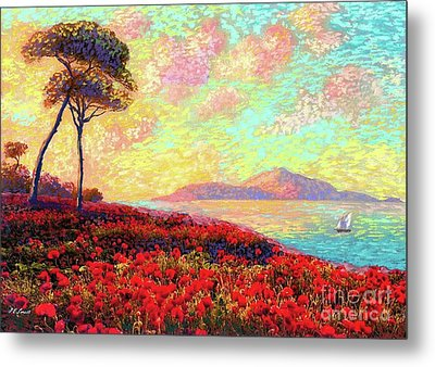 Enchanted By Poppies Metal Print by Jane Small