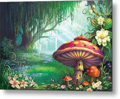 Enchanted Forest Metal Print by Philip Straub