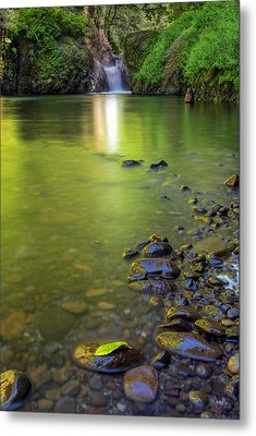 Enchanted Gorge Reflection Metal Print by David Gn