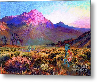 Enchanted Kokopelli Dawn Metal Print by Jane Small