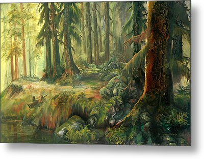 Enchanted Rain Forest Metal Print by Sherry Shipley