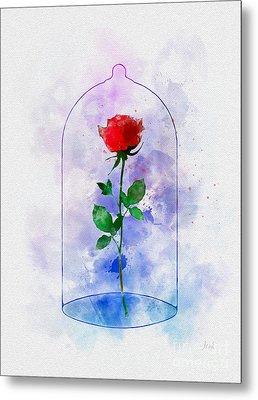 Enchanted Rose Metal Print by Rebecca Jenkins