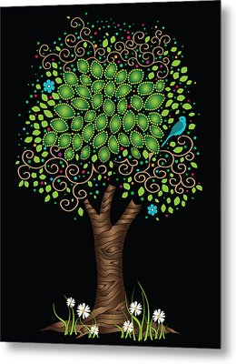 Enchanted Tree Metal Print by Serena King