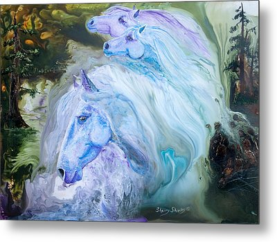 Enchanted Waters Metal Print by Sherry Shipley