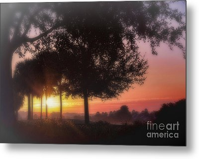 Enchanting Morning Sunrise Metal Print by Mary Lou Chmura