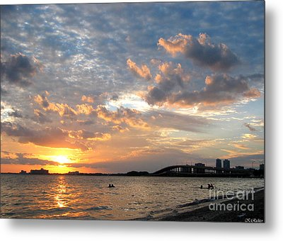 End Of A Beach Day Metal Print by Keiko Richter