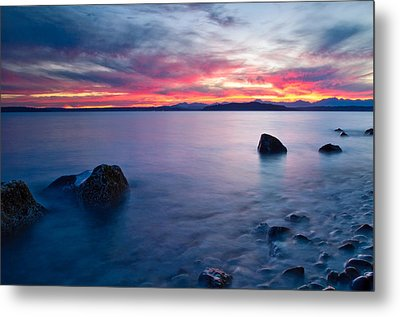 End Of Day At Alki Beach Metal Print