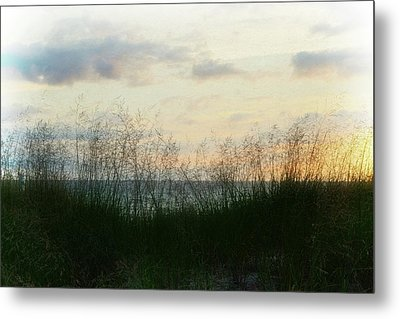 End Of Day At Pentwater Metal Print by Michelle Calkins