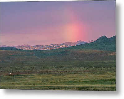 Metal Print featuring the photograph End Of Rainbow by Hitendra SINKAR