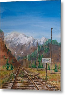 End Of Standard Gauge Metal Print by Christopher