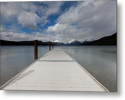 End Of The Dock Metal Print