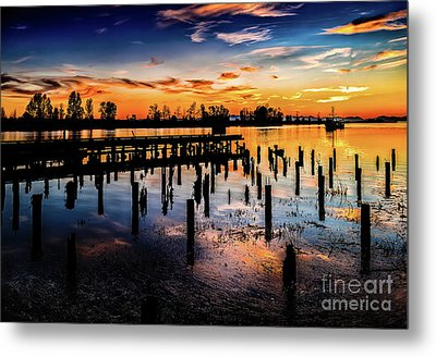 End Of The Fishing Day Metal Print