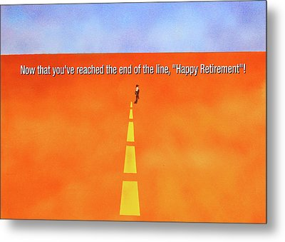 End Of The Line Greeting Card Metal Print