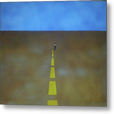 Metal Print featuring the painting End Of The Line by Thomas Blood