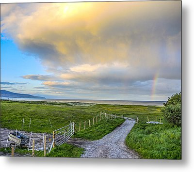End Of The Road, Brora, Scotland Metal Print by Sally Ross
