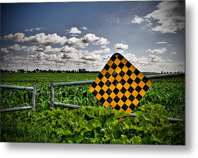 End Of The Road Metal Print by Michel Filion