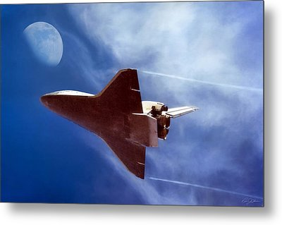 Endeavour Return Metal Print by Peter Chilelli