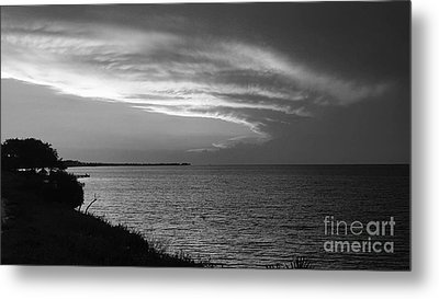 Ending The Day On Mobile Bay Metal Print