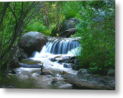 Endo Valley Waterfall Metal Print by Perspective Imagery