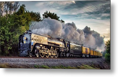 Engine 844 At The Dora Crossing Metal Print