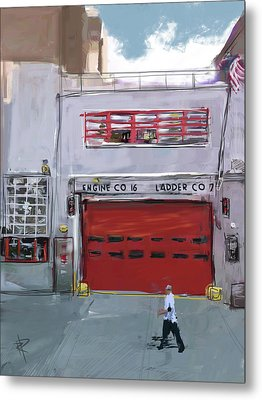 Engine Co. 16 Metal Print by Russell Pierce