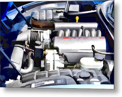 Engine Compartment 1 Metal Print by Lanjee Chee