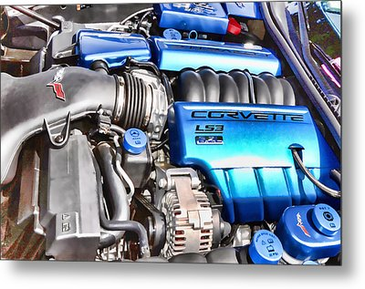 Engine Compartment 4 Metal Print by Lanjee Chee