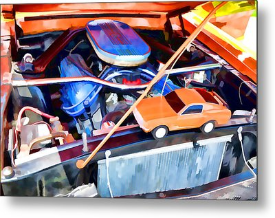 Engine Compartment 8 Metal Print by Lanjee Chee