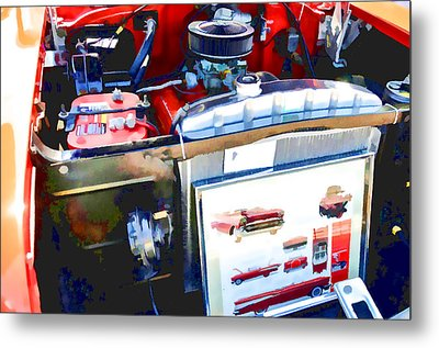 Engine Compartment 9 Metal Print by Lanjee Chee