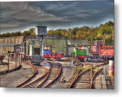 Engine Sheds Quainton Road Buckinghamshire Railway Metal Print by Chris Thaxter
