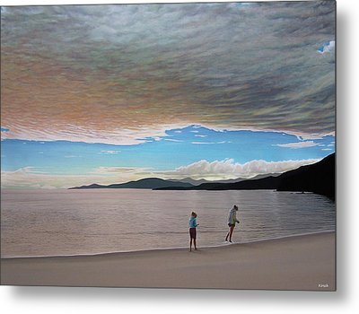 English Bay Vancouver Metal Print by Kenneth M  Kirsch